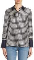 Tory Burch Marea Silk Button-Down Shirt