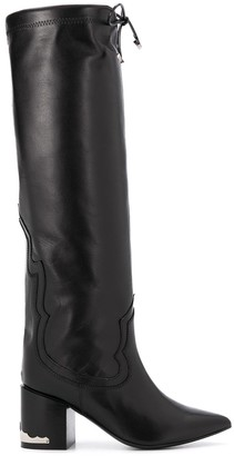 Toga Pulla Front Tie Detail Pointed Toe Boots