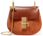 Chloé Drew Mini Leather And Suede Shoulder Bag - Brown