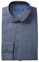 Vince Camuto Lapis Square Dobby Slim Fit Dress Shirt