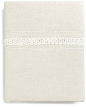 Hotel Collection Madison Hemstitch Queen Flat Sheet, Created for Macy's Bedding