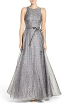 Aidan Mattox Women's Beaded Metallic Organza Gown