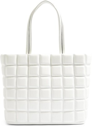 Topshop Riley Quilted Faux Leather Tote
