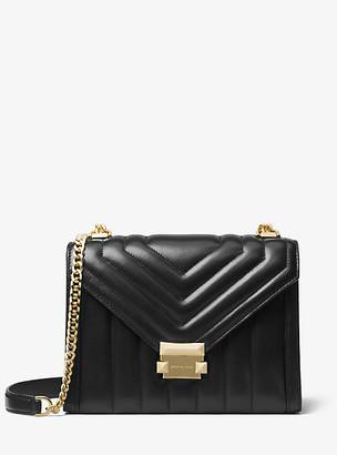MICHAEL Michael Kors MK Whitney Large Quilted Leather Convertible Shoulder Bag - Black - Michael Kors