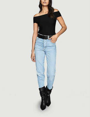 Reiss Megan off-the-shoulder stretch-knit top