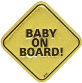 Anya Hindmarch Baby On Board Metallic Leather Sticker