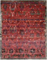 """Nourison Dune DUN02 Pomegranate 8'6"""" x 11'6"""" Hand-Knotted Rug"""