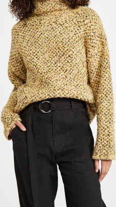 3.1 Phillip Lim Boucle Jacquard Cropped Sweater