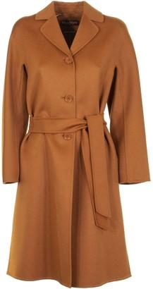 Max Mara Wool Cashmere Coat Aretusa Tobacco