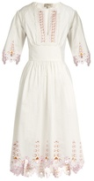 Temperley London Amour broderie-anglaise cotton-poplin dress