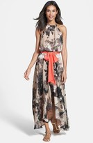 Eliza J Women's Floral Print Chiffon Maxi Dress