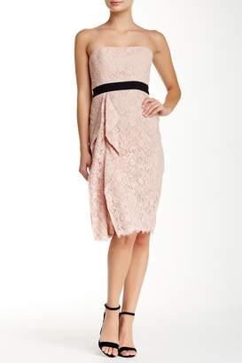 BCBGMAXAZRIA Alexandra Strapless Lace Dress