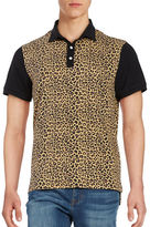 Laboratory Lt Man Leopard-Print Cotton Polo