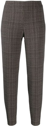 Piazza Sempione Plaid Slim-Fit Trousers