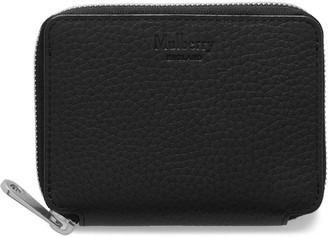 Mulberry Long Zipped Wallet Black Heavy Grain
