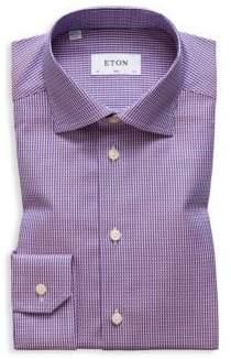 Eton Slim Fit Micro Weave Dress Shirt