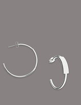 Autograph Fine Hoop Earrings