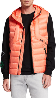 Diesel Men's W-Dwain-Sl Quilted Hooded Vest