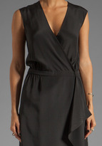 Tibi Solid Silk Wrap Dress