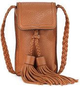Rebecca Minkoff Isobel Leather Phone Crossbody Bag, Almond