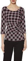 Gina Bacconi Geometric Print Jersey Top, Pink