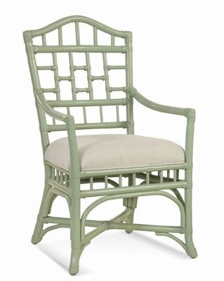 Braxton Culler Chippendale Dining Chair Braxton Culler Upholstery Color: Cream Chevron; 0861-91, Frame Color: Java