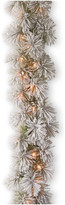 clear National Tree Company 9' Snowy Bristle Pine Garland With Lights