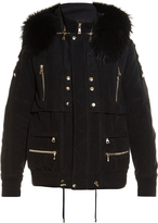 Balmain Fur-trim hooded parka jacket