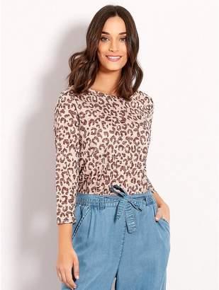 M&Co Leopard print top