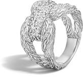 John Hardy Classic Chain Sterling Silver Diamond Pavé Ring