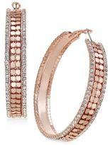 Thalia Sodi Gold-Tone Metal Mesh and Crystal Hoop Earrings, Only at Macy's