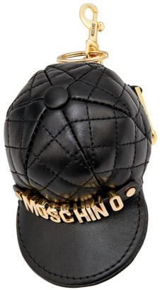 Moschino Quilted Leather Hat Coin Purse