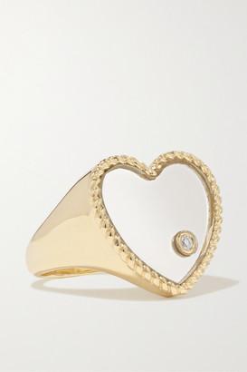 Yvonne Léon 9-carat Gold, Glass And Diamond Ring - 4