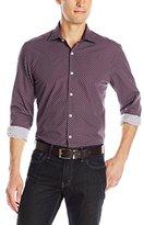 Stone Rose Men's Geometric Print Long-Sleevee Shirt