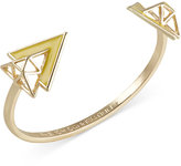 French Connection Gold-Tone Openwork Triangle Cuff Bracelet