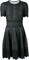 Alexander McQueen flared knit dress - women - Silk/Polyester/Viscose - S