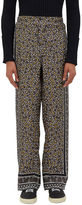 Fendi Men's Geometric Printed Pyjama Pants In Grey