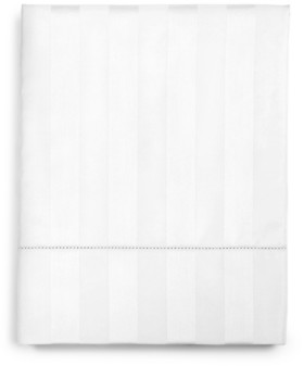 "Charter Club Damask 1.5"" Stripe King Flat Sheet, 550 Thread Count 100% Supima Cotton, Created for Macy's Bedding"