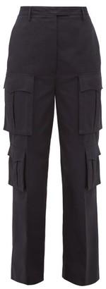 Prada Tailored Cotton-poplin Cargo Trousers - Navy