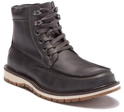 Kenneth Cole Reaction Moc Toe Leather Lace-Up Boot