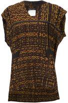Baja East Baja print hooded top - women - Cotton - 2