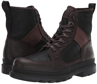 Frye Scout Boots (Black Multi WP Waxed Suede/Nylon/Canvas) Men's Lace-up Boots
