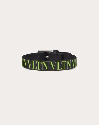 Valentino Garavani Uomo Vltn Calfskin Bracelet Man Black/neon Yellow 100% Pelle Bovina - Bos Taurus OneSize