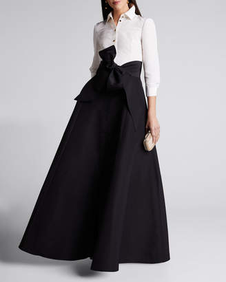 Carolina Herrera Icon 2.0 Two-Tone Trench Gown