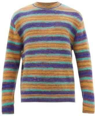 Acne Studios Nosti Striped Crew Neck Sweater - Mens - Blue Multi