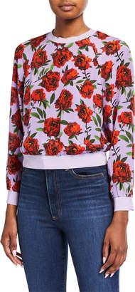 Alice + Olivia Calvin Raglan-Sleeve Sweatshirt