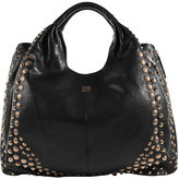 Black/Gold Shoulder Bag With Metal Studs