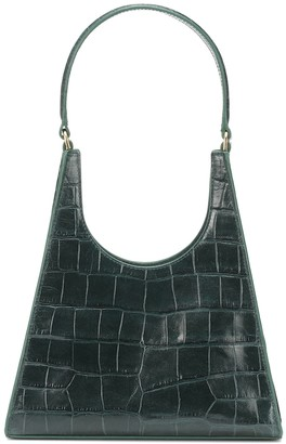 STAUD Rey embossed leather shoulder bag