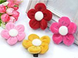 Cuhair(tm) 4pcs Sunflower Top Quality Flower Same As Picture Design for Women Baby Girl Accessories Princess Bb Hair Clips Hairpin Girl Clip Band Retail or Wholesale