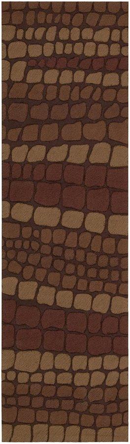 Nourison Fantasy FA02 Brick Rectangle Rug, 2.3x8.0
